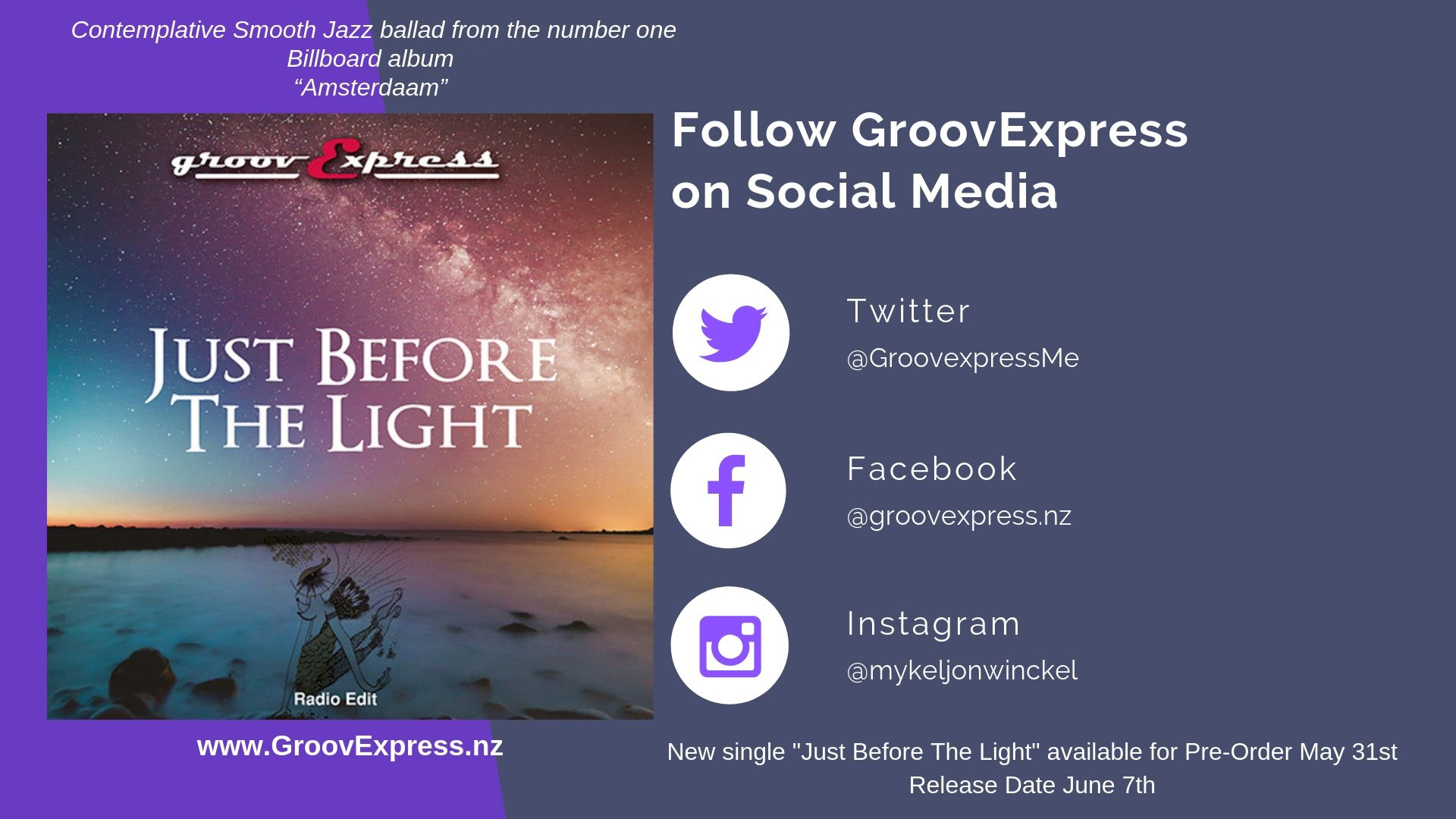 Follow groovexpress on Social Media