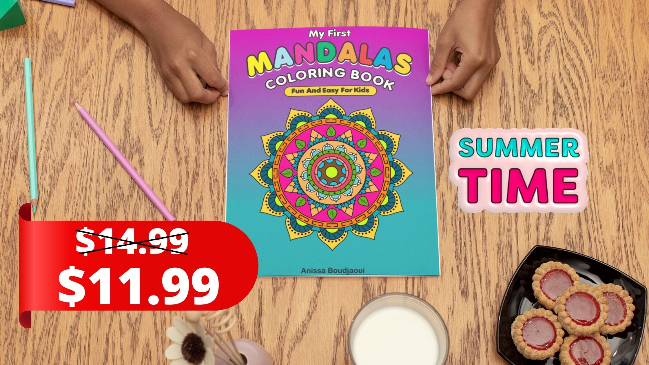 """Encourage kids to create, imagine and find harmony with """"My First Mandalas Coloring Book – Fun & Easy For Kids"""""""